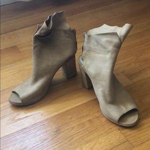 Free People open toed booties